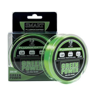 Fir Monofilament Maver Green Power Fluorine, Verde Fluo, 300m 0.25mm 6.10kg