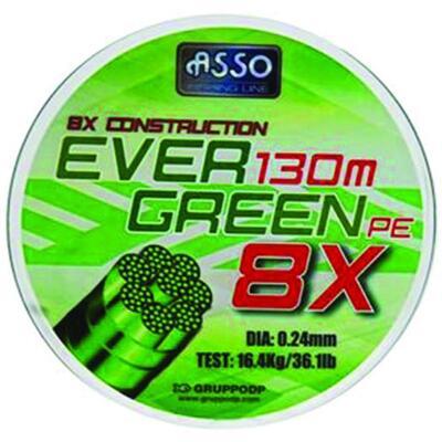 Fir ASSO Evergreen PE 8X Verde 130m