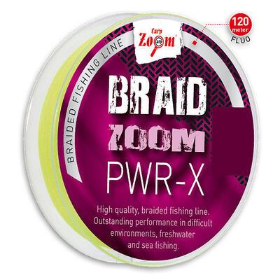 Fir textil Carp Zoom Braid Zoom PWR-X Yellow Fluo 0,20mm/16,0kg/120m