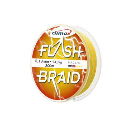Fir textil Climax Flash Braid Fluo Yellow 0.20mm/15kg/100m