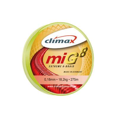 Fir Textil Climax MIG 8, Fluo Yellow, 135m 0.28mm 27.8kg