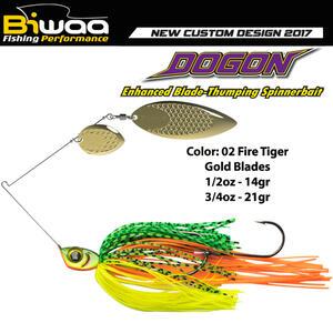 Spinnerbait Biwaa Dogon 14g White Fire Tiger-Gold Blades