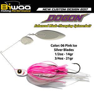 Spinnerbait Biwaa Dogon 14g Pink Ice-Silver Blades