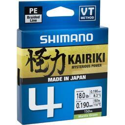 Fir Textil Shimano Kairiki 4 Braided Line, Mantis Green, 150m, 0.16mm 8.10kg