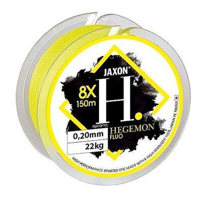 Fir textil Jaxon Hegemon 8X Fluo Yellow 0.22mm/25kg/150m