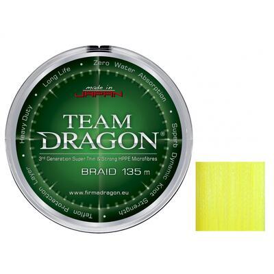 FIR TEXTIL TEAM DRAGON BRAID 0.12MM/10,40KG 135M YELLOW FLUO